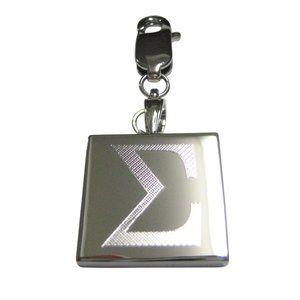 Uppercase Letter Sigma Pendant Zipper Pull Charm